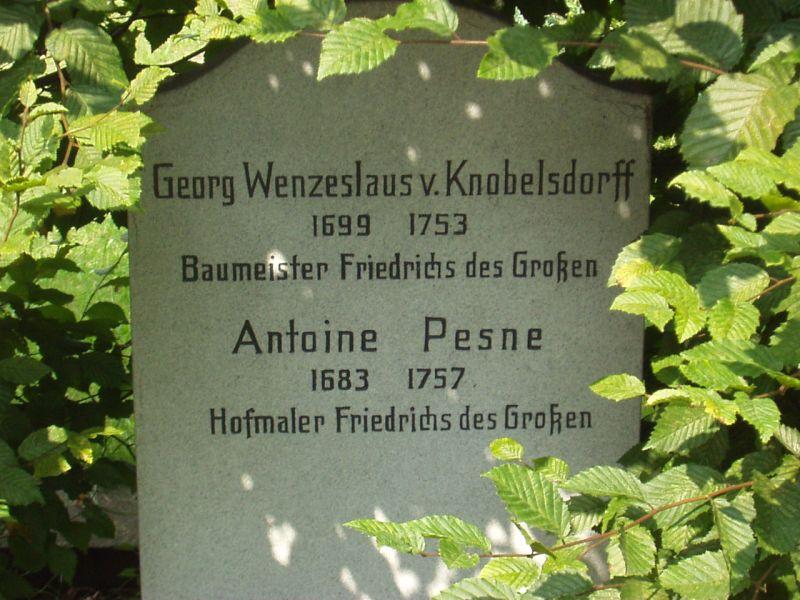 Friedhof ansichten knobelsdorff georg wenzeslaus von for Innendekorateur baden